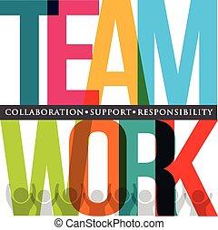 Teamwork typography
