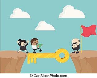 Teamwork. Vector business concept