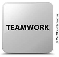 Teamwork white square button