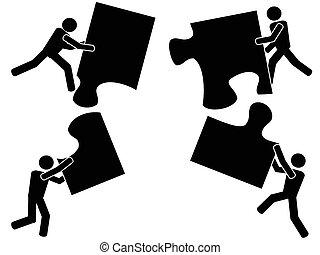 teamwork with jigsaw