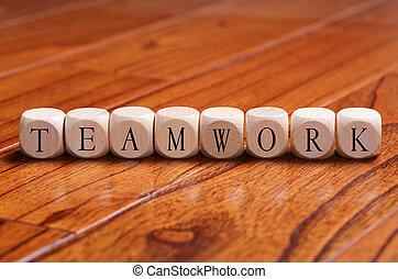 TEAMWORK Word Concept