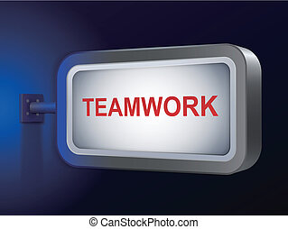 teamwork word on billboard