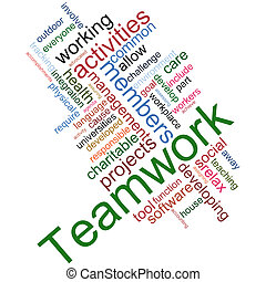 Teamwork wordcloud - Illustration of teamwork wordcloud on...