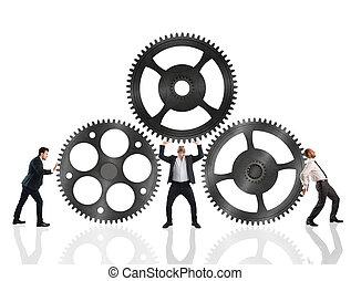 Teamwork work together