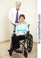 tean, handicapé, business, -