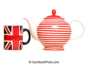 teapot and union jack mug