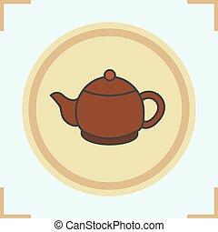 Teapot color icon