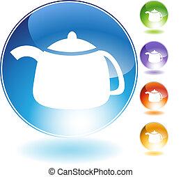 teapot crystal icon