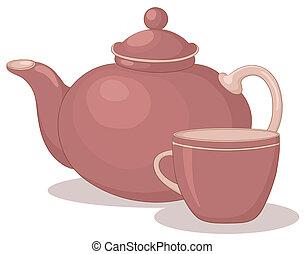 teapot csésze