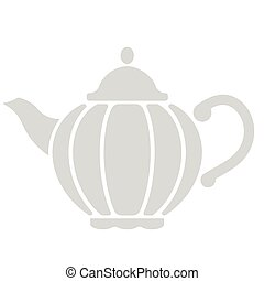Teapot flat illustration on white