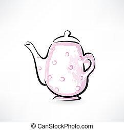 teapot grunge icon