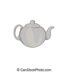 Teapot icon, black monochrome style