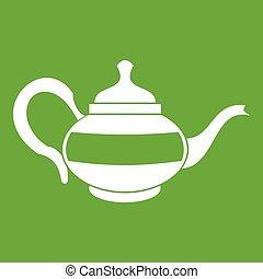 Teapot icon green
