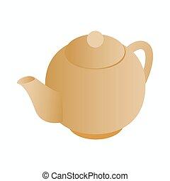 Teapot icon, isometric 3d style