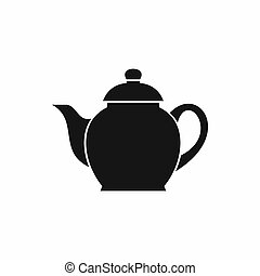 Teapot icon, simple style