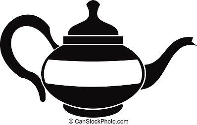 Teapot icon, simple style