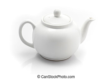 teapot isolated on a white background