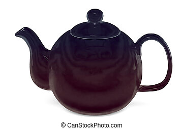 Teapot, isolated on white background, with clipping path