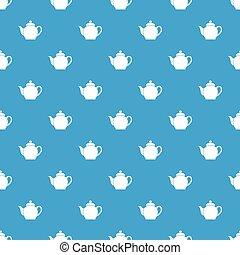Teapot pattern seamless blue
