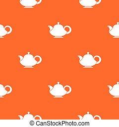 Teapot pattern seamless