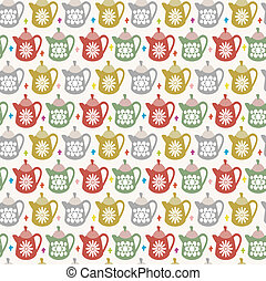 teapot seamless pattern