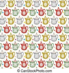 teapot seamless pattern  - teapot seamless pattern