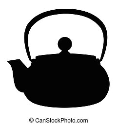 Teapot silhouette vector