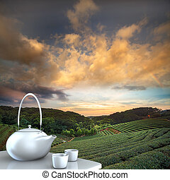 Teapot with nice background for adv or others purpose use