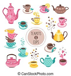 teapots and cups collection