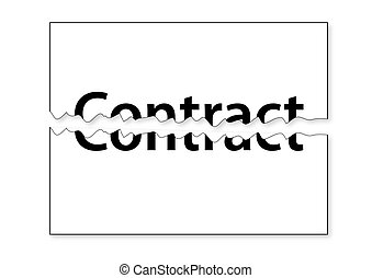 Tear Contract - Illustration of Tear Contract