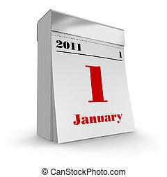 tear-off, calendario, 2011