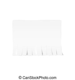 tear-off, illustration, papier, arrière-plan., vecteur, annonce, blanc, template.