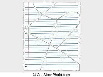 Tear paper Vector Illustration.