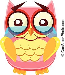 Tearful Pink Owl