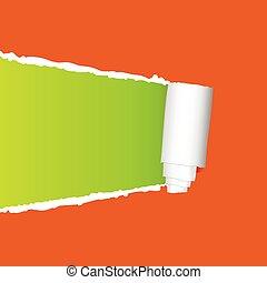 tearing paper vector on orange - tearing paper vector ...
