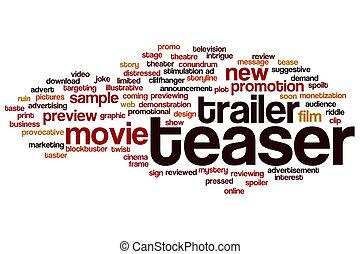Teaser word cloud