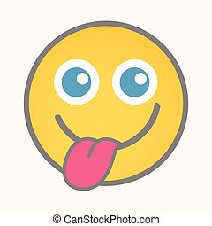 Teasing - Cartoon Smiley Vector
