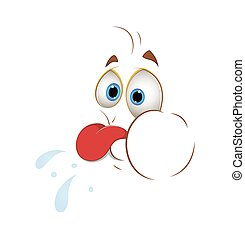 Teasing Face Vector Smiley - Cartoon Naughty Funny Teasing...