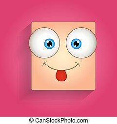 Teasing Face Vector Smiley