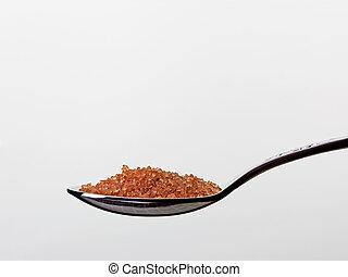 teaspoon with brown sugar