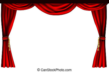 teater, eller, bio, ridåer