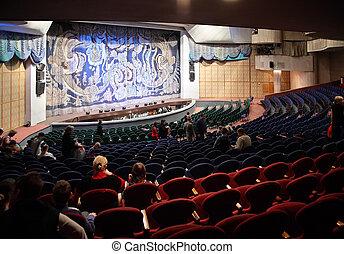 teater, folk