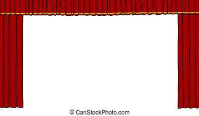 teater, gardin