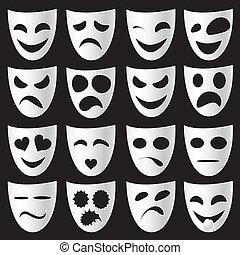 teater, masker