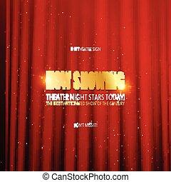 teater, premiär, affisch, design.