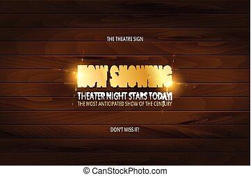 teater, premiär, affisch, design