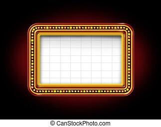teater stort tält, underteckna