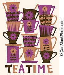 teatime, karta
