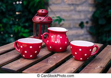 teatime set on the table