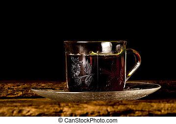 Teatime vintage cup of tea